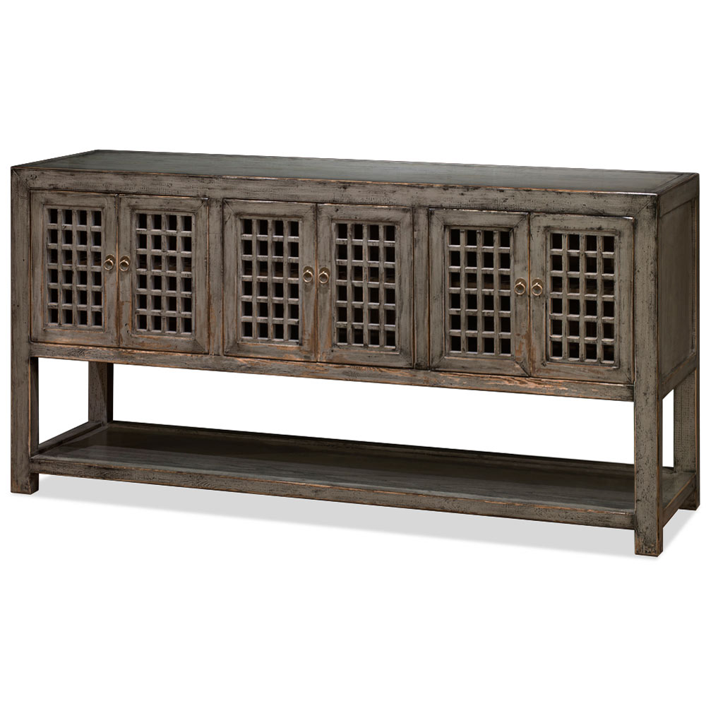 Distressed Gray Elmwood Dynasty Sideboard