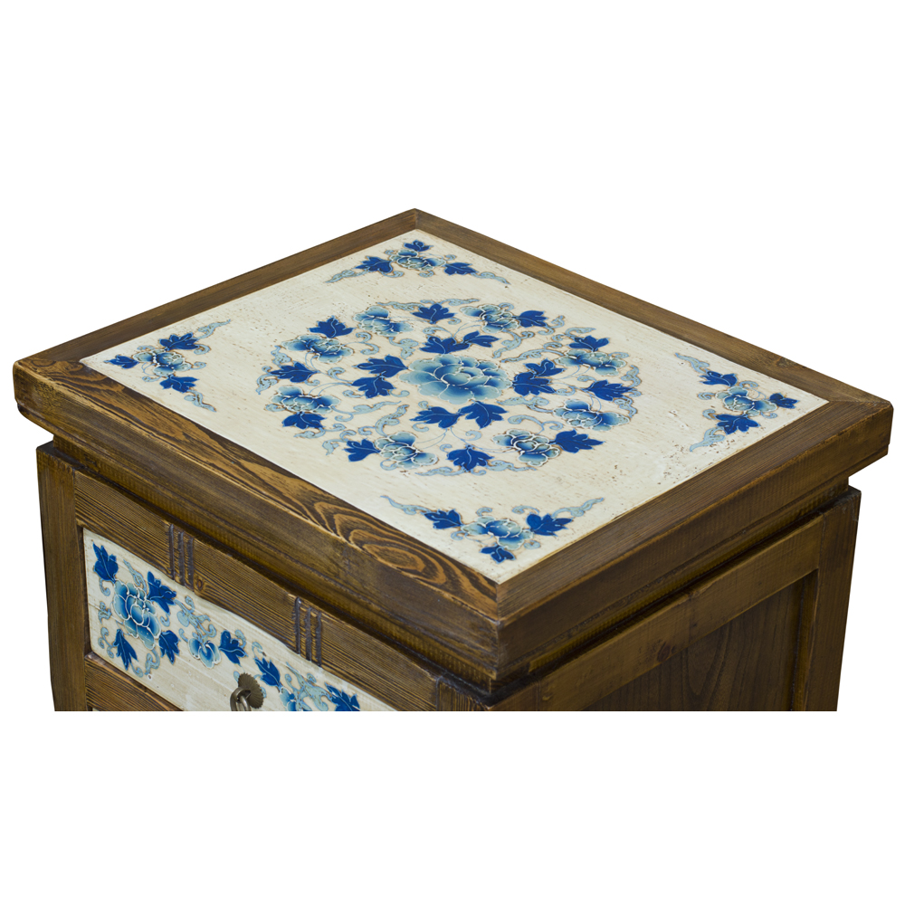 Distressed Blue and White Qing Hai Tibetan Cabinet Set