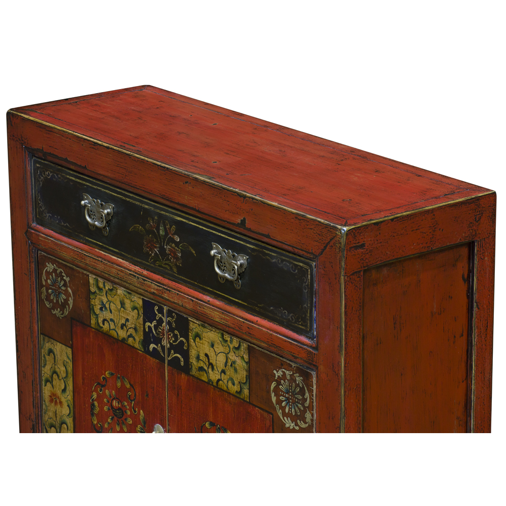 Elmwood Red Mandarin Oriental Cabinet