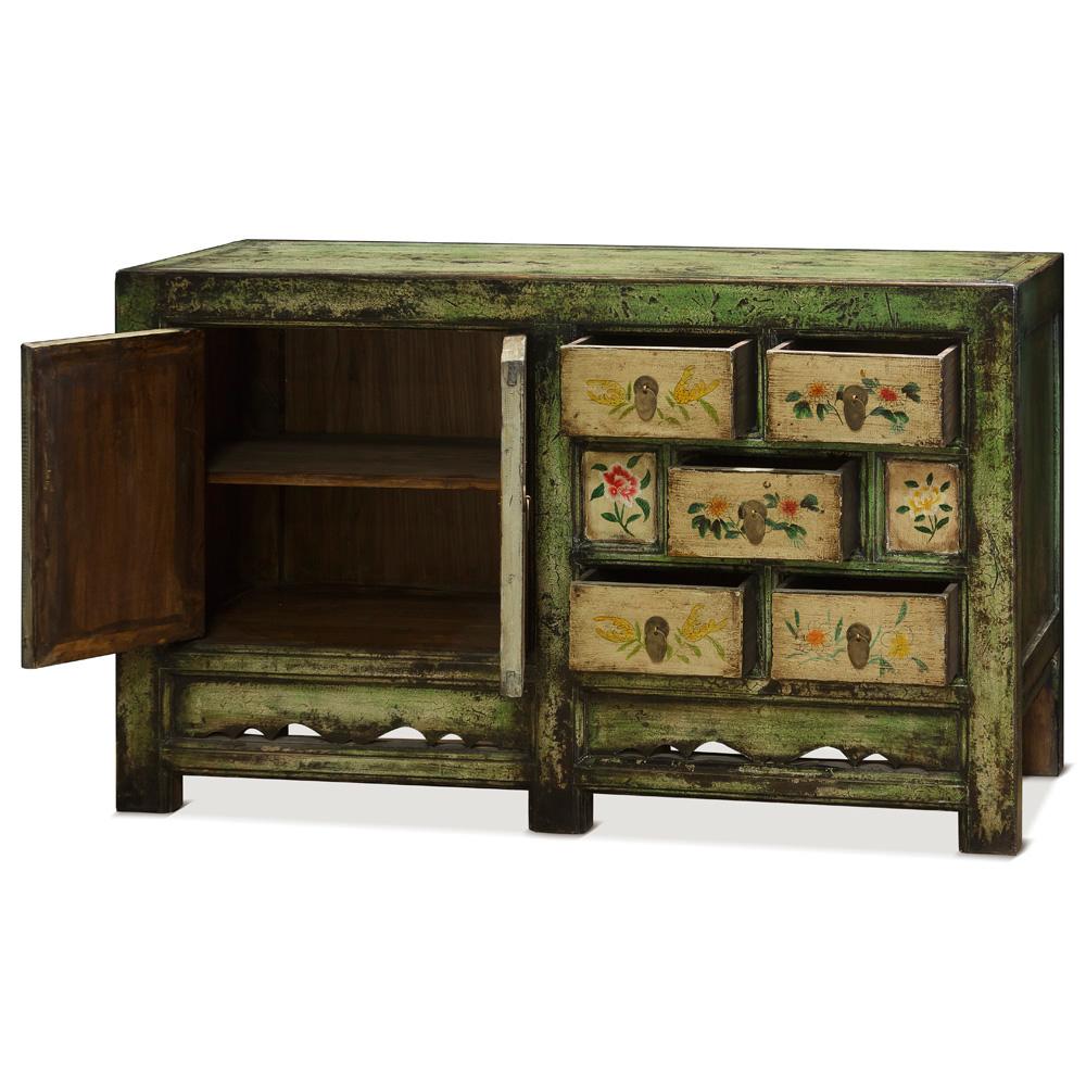 Vintage Tibetan Cabinet