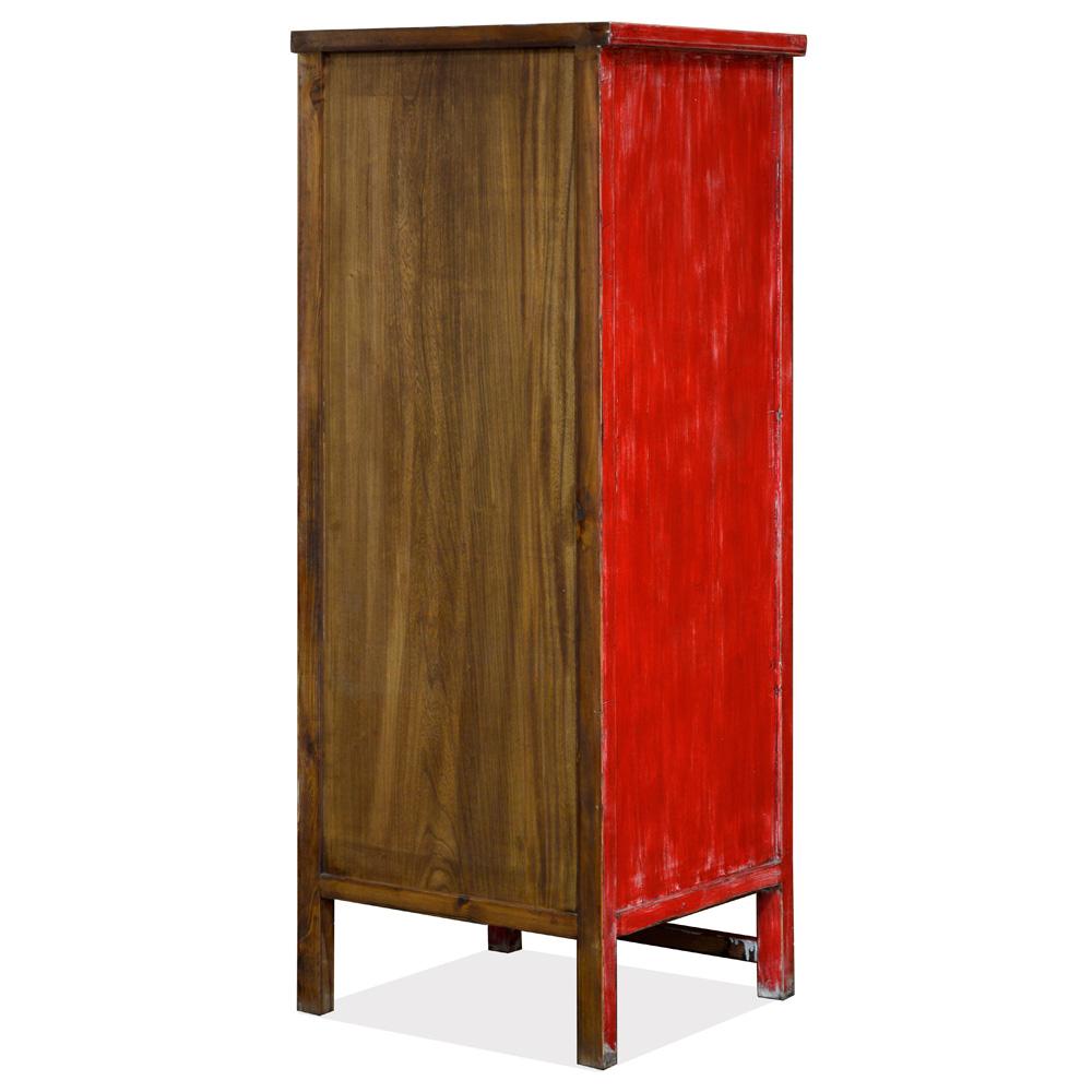 Vintage Elmwood Mandarin Qing Dynasty Oriental Armoire