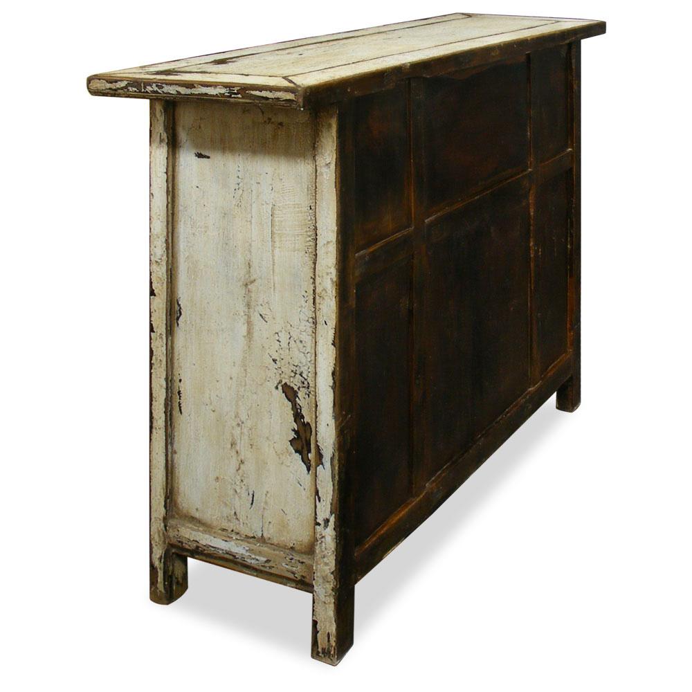Antiqued Elmwood Kitchen Cabinet