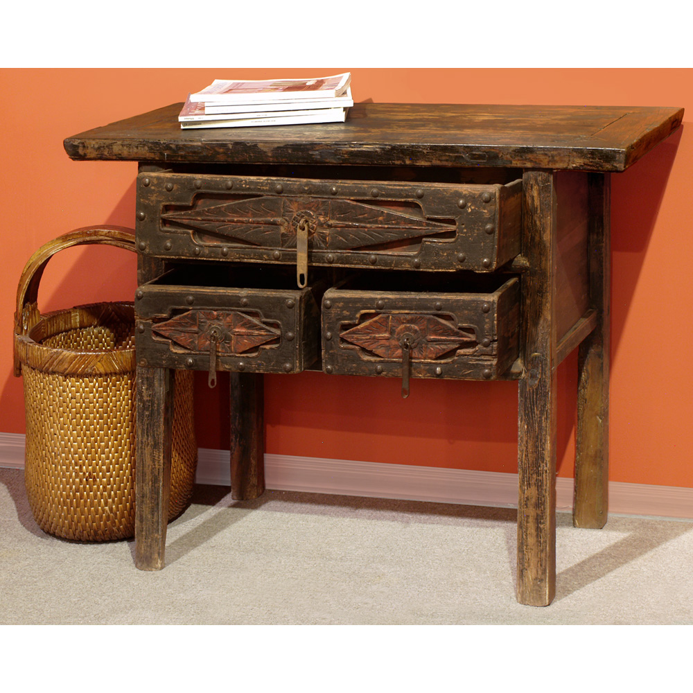 Vintage Elmwood Shan Xi Table