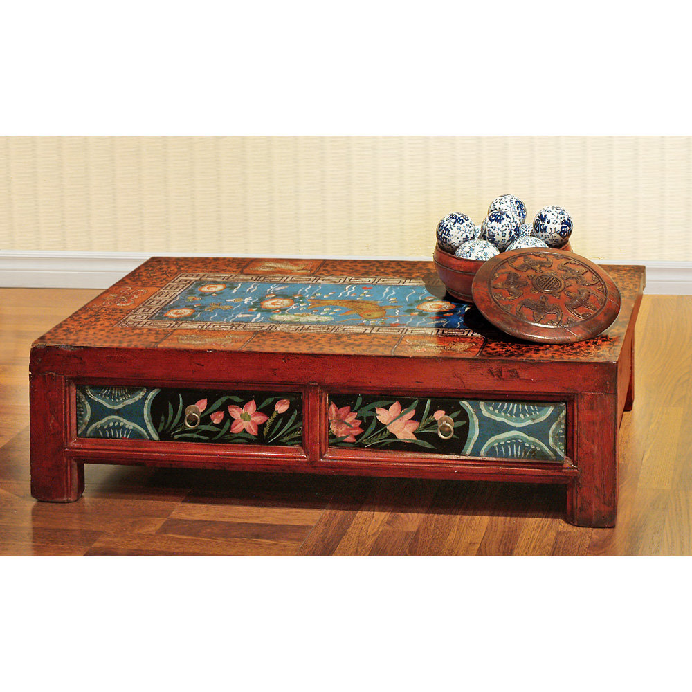Hand Painted  Mongolian Table