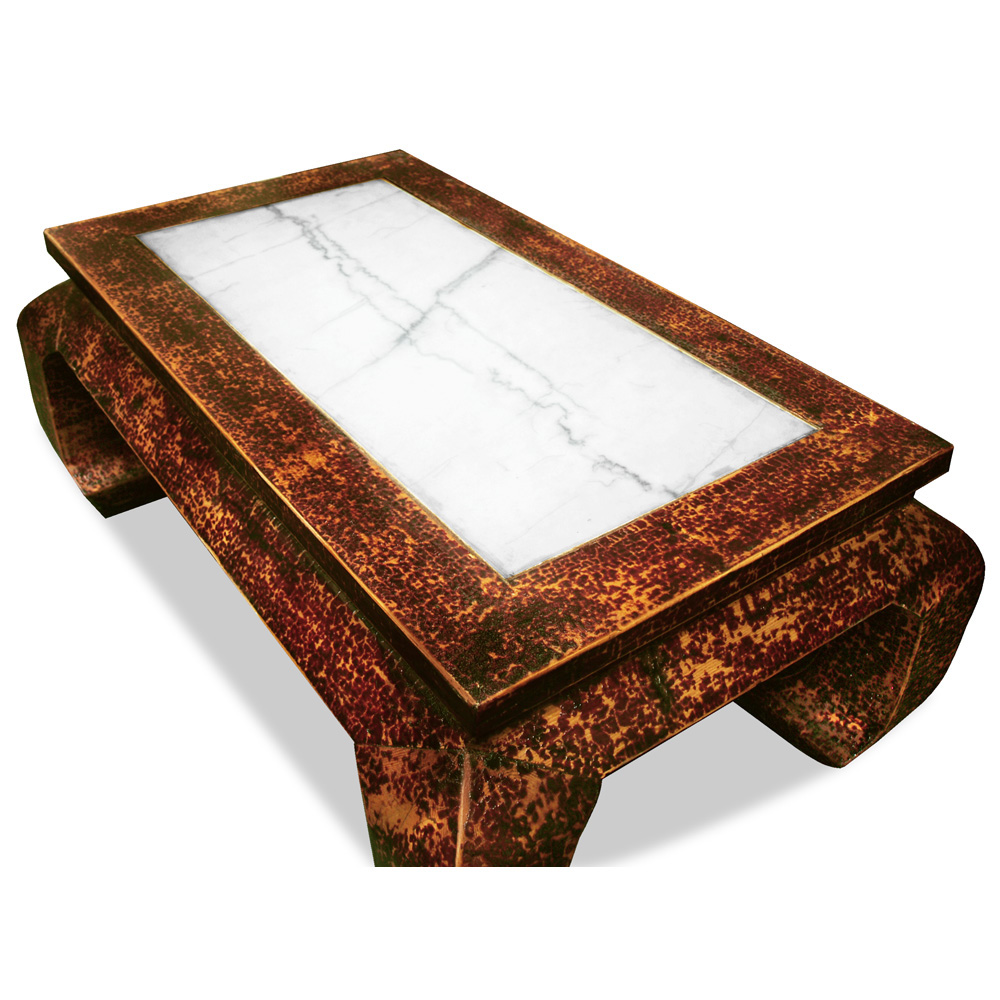 Elmwood Ming Coffee Table with Marble Top