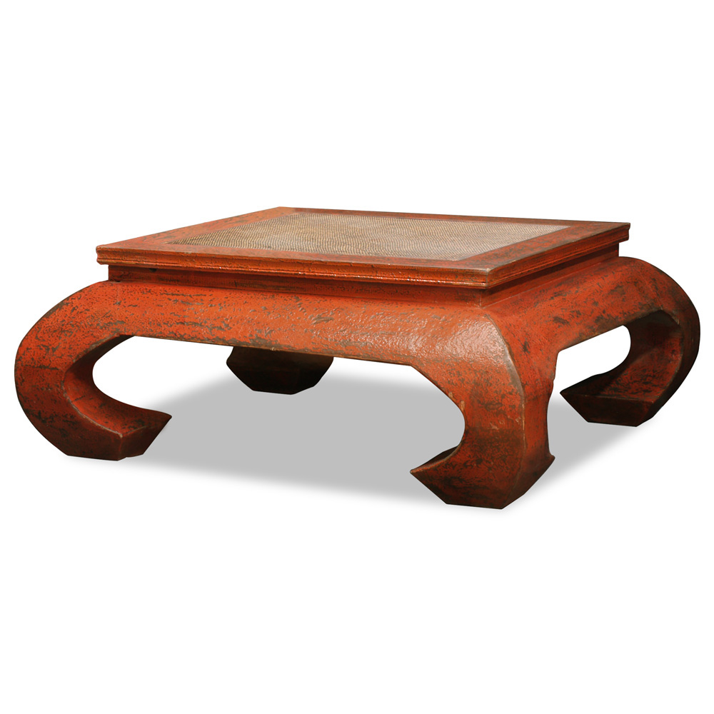 Elmwood Ming Coffee Table with Woven Top