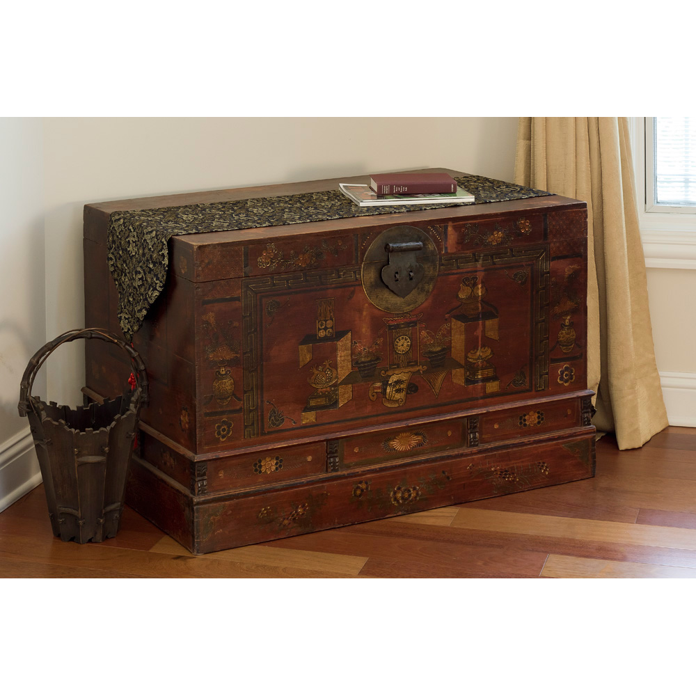 Hand Painted Tibetan Trunk