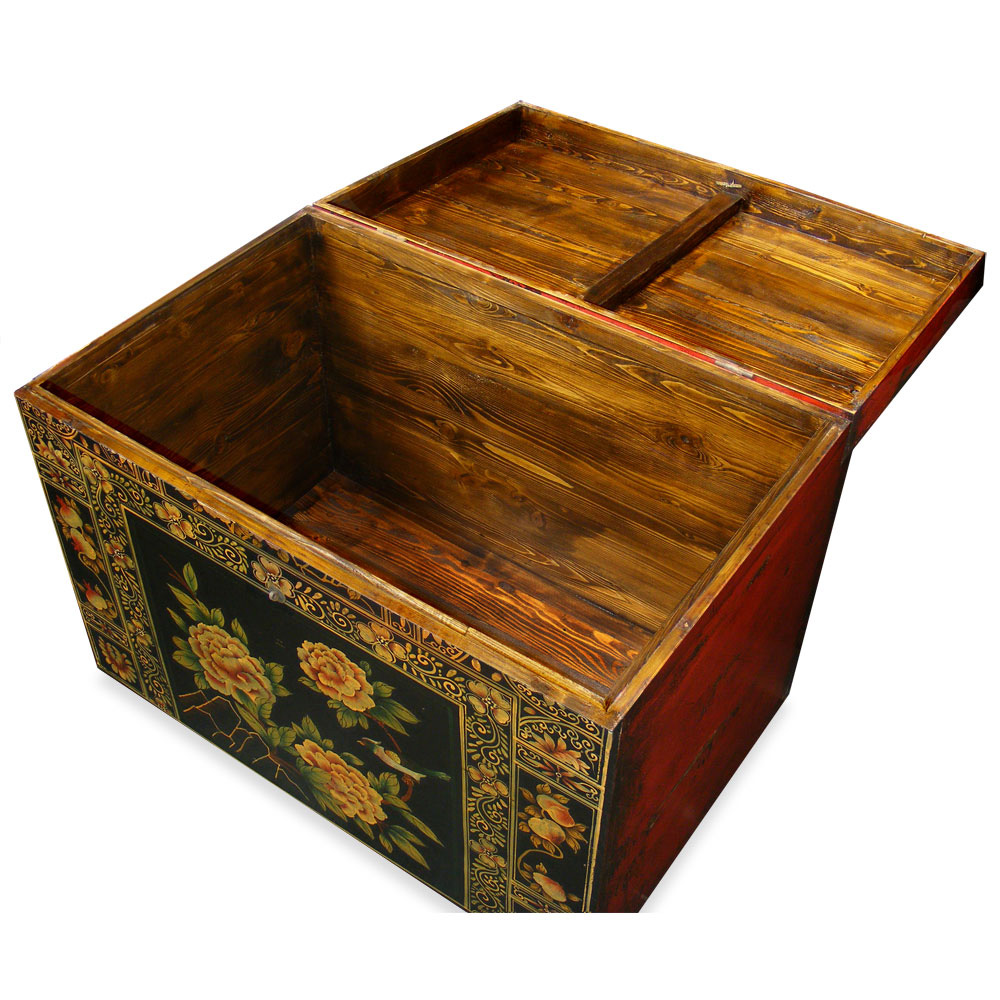 Hand-Painted Tibetan Trunk