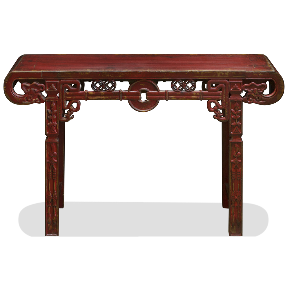 Antique Elmwood Shanghai Altar Console Table
