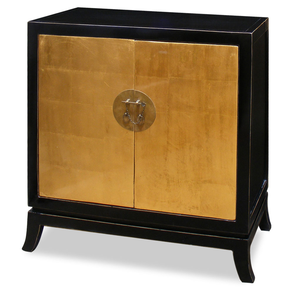 Gold Leaf Two Door Tang Cabinet