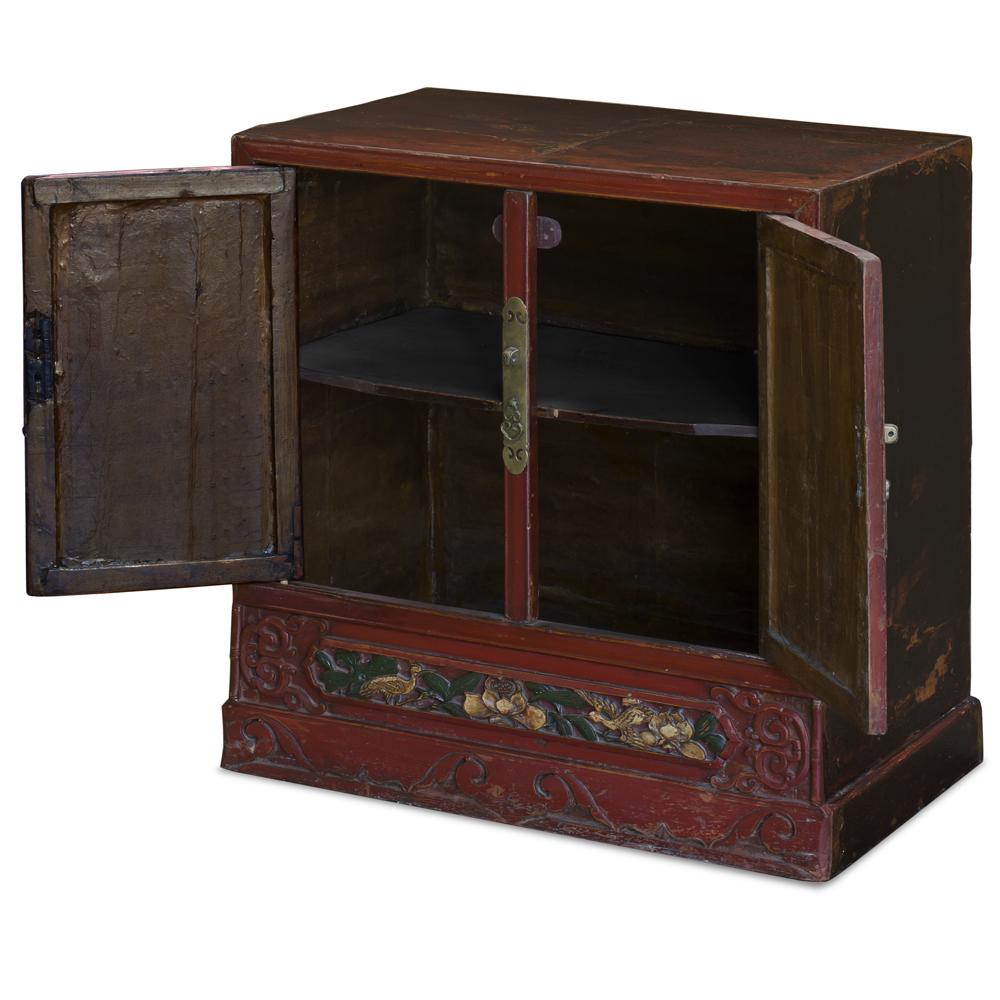 Vintage Elmwood He Hua Village Oriental Cabinet
