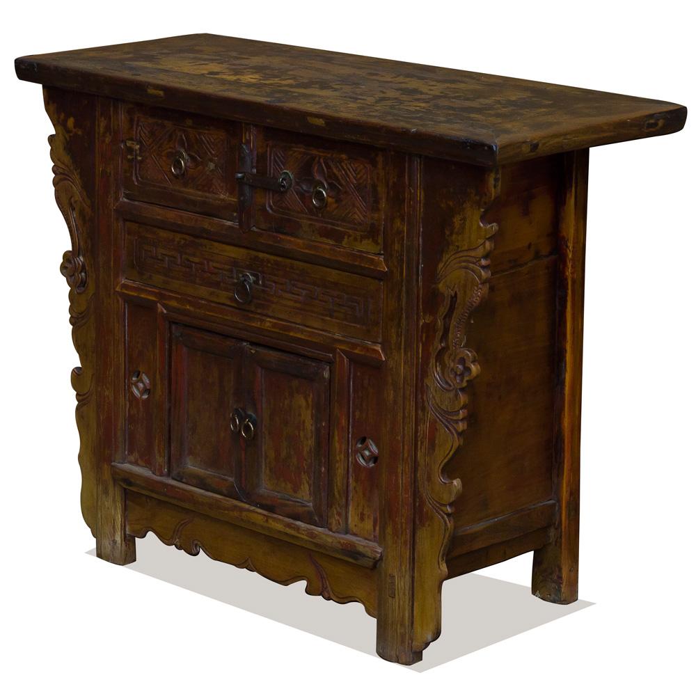 Vintage Elmwood Village Oriental Altar Cabinet