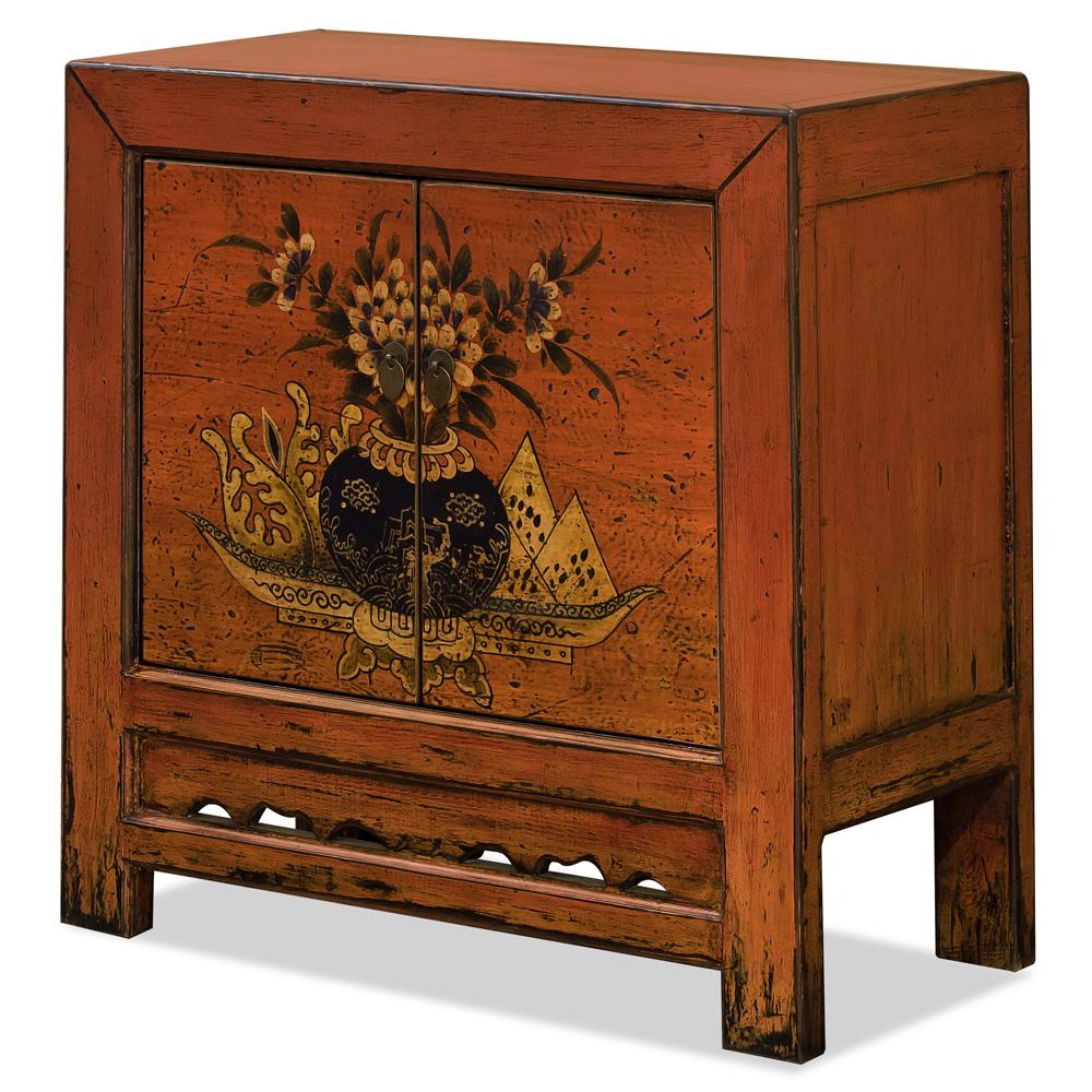 Tangerine Elmwood Mandarin Oriental Cabinet