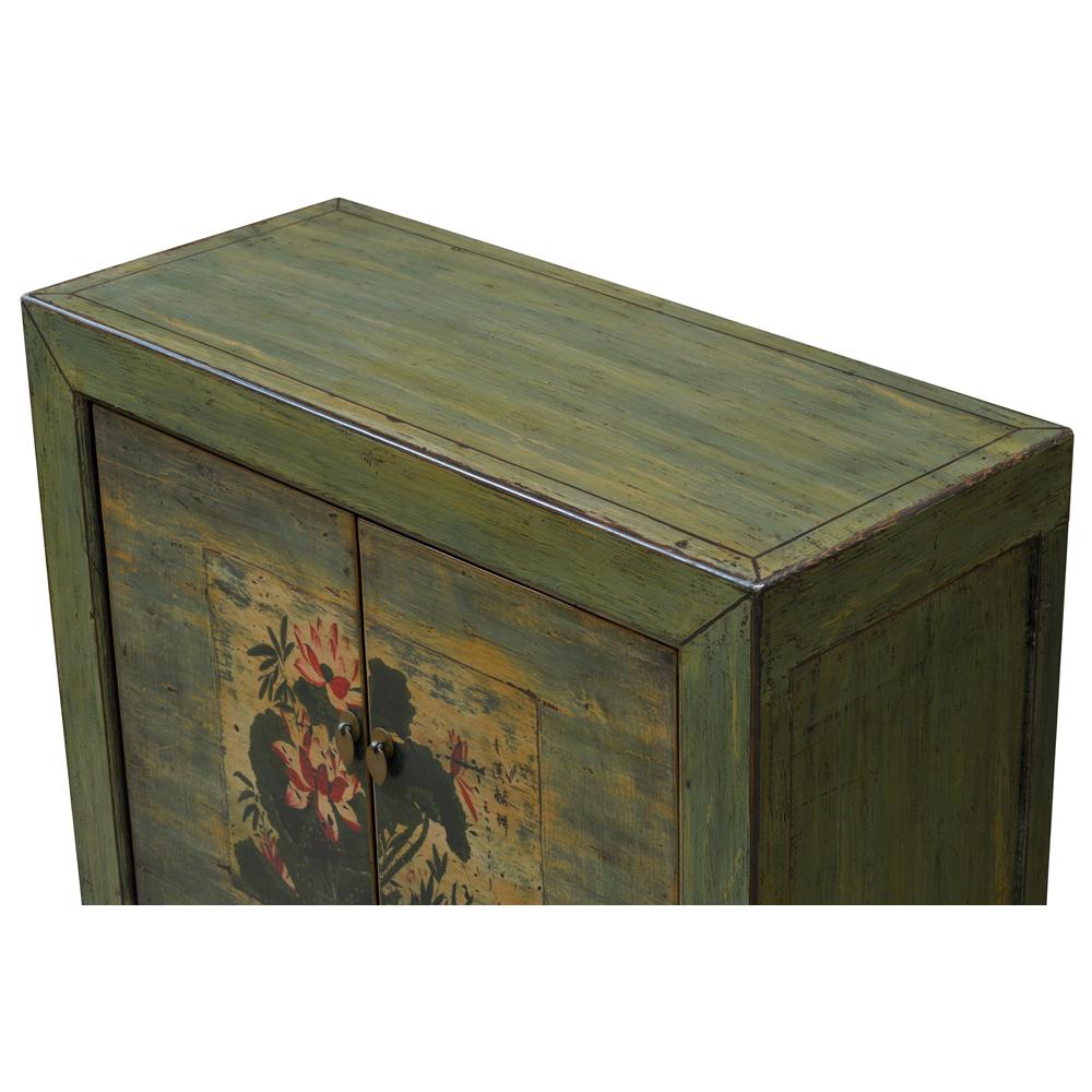 Elmwood Tranquility Lotus Tibetan Cabinet