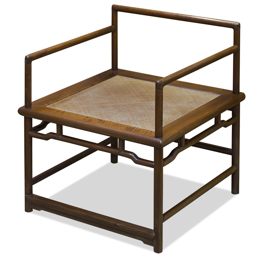 Walnut Elmwood Ming Meditation Chair