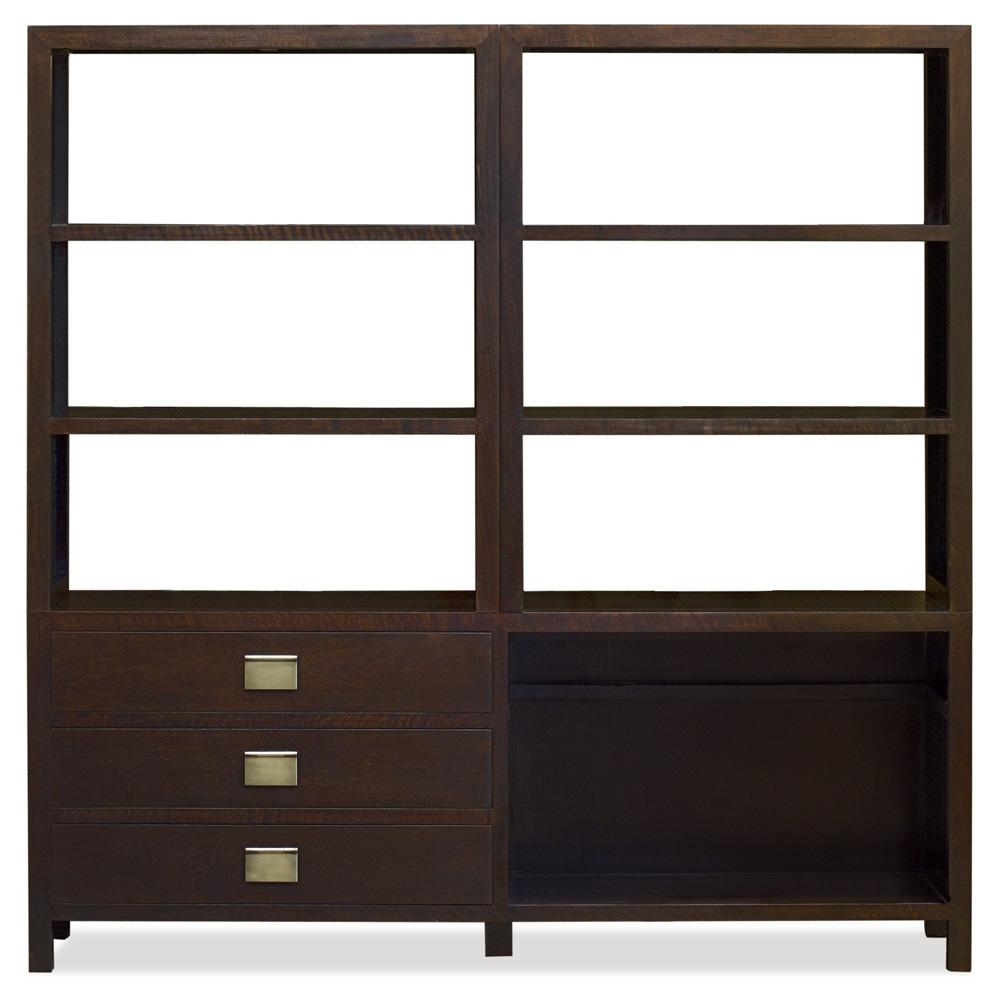 Espresso Elmwood Zen Style Asian Bookcase