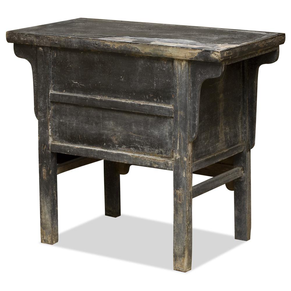 Antique Elmwood Oriental Altar Cabinet