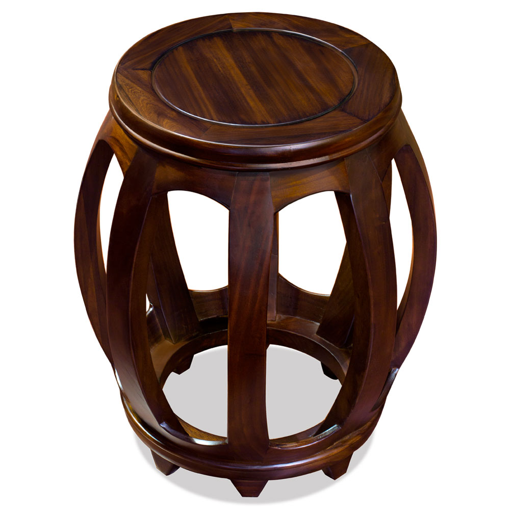 Elmwood Drum Stool