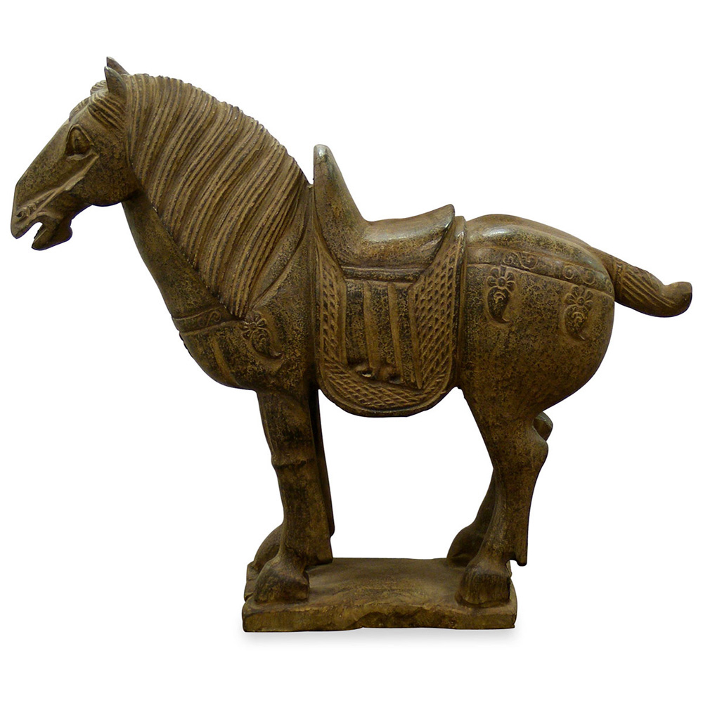 Hand Carved Stone Horse