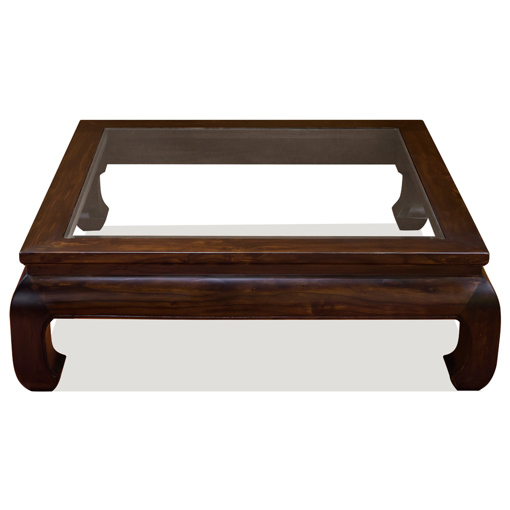 Elmwood Ming Style Square Coffee Table