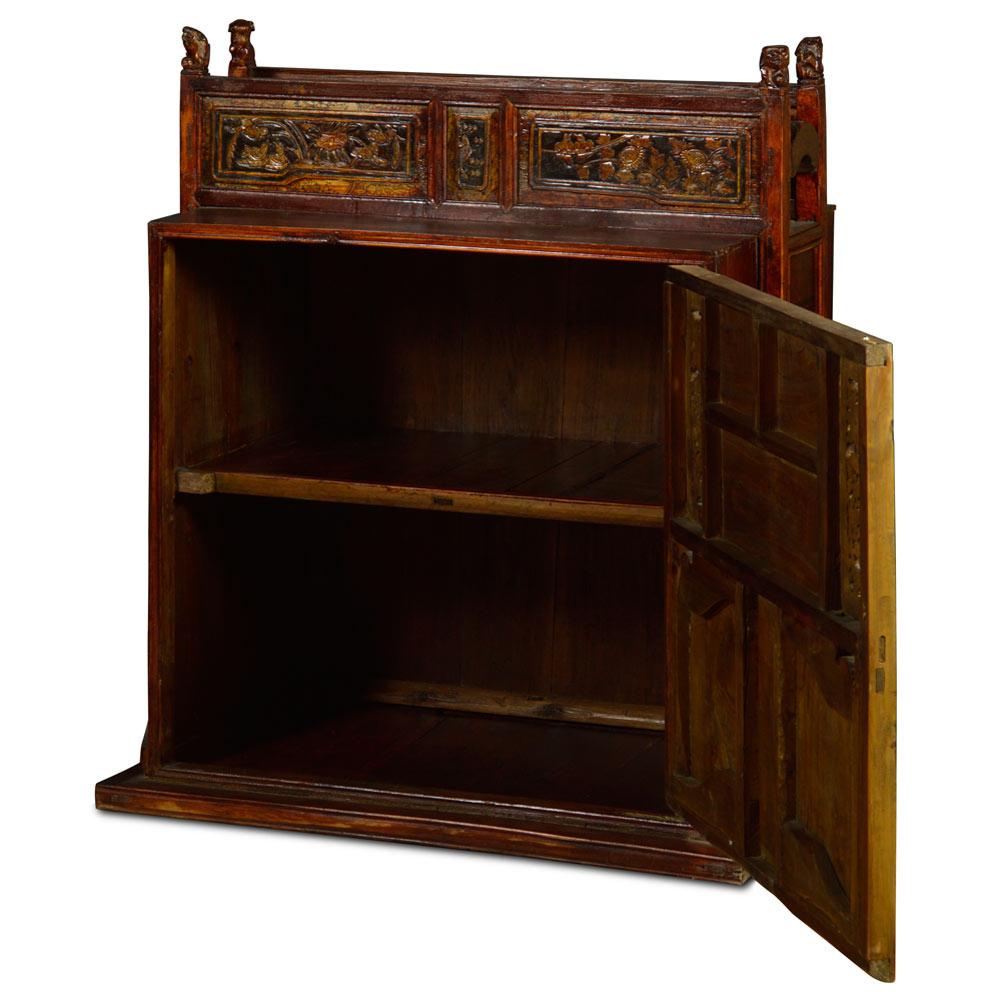 Vintage Elmwood Chinese Wedding Cabinet