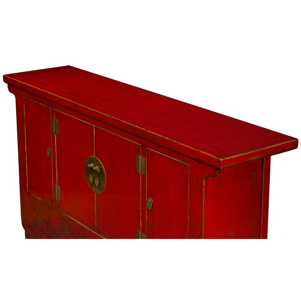 Vintage Red Elmwood Shanxi Cabinet