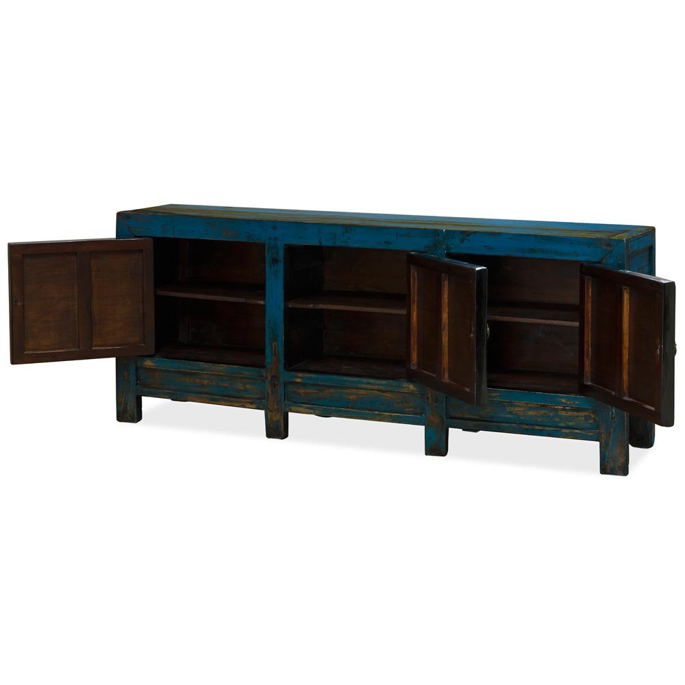Vintage Elmwood Tibetan Cabinet