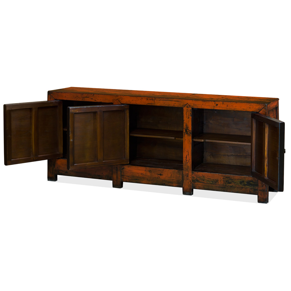 Elmwood Tibetan Still Life Cabinet