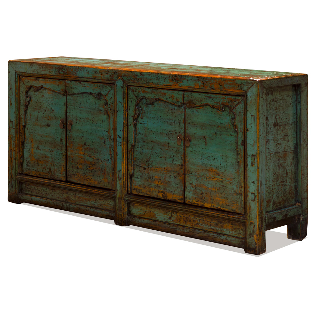 Vintage Elmwood Peking Palace Sideboard
