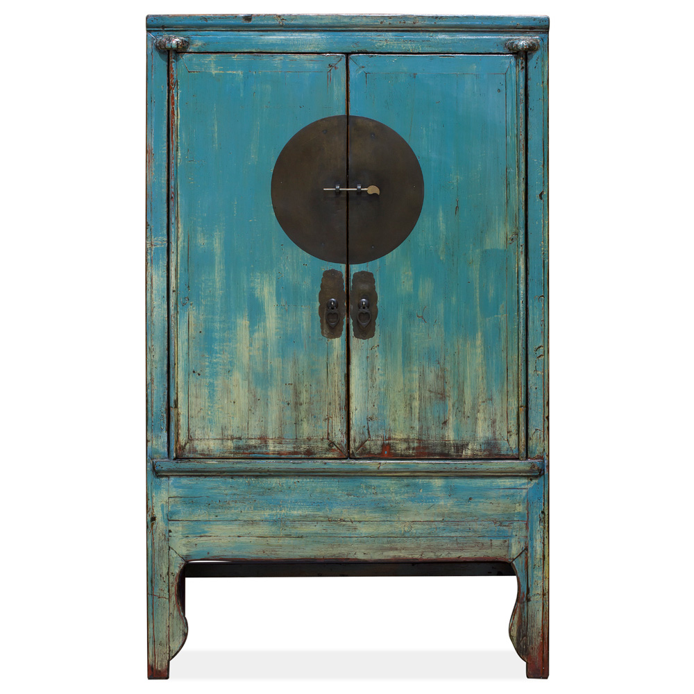 Vintage Blue Elmwood Wedding Cabinet