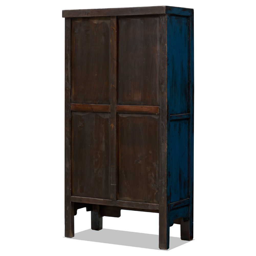 Vintage Dark Blue Elmwood Wedding Cabinet