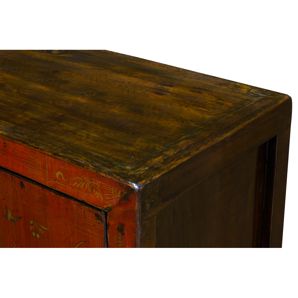 Vintage Elmwood Dong Bei Cabinet