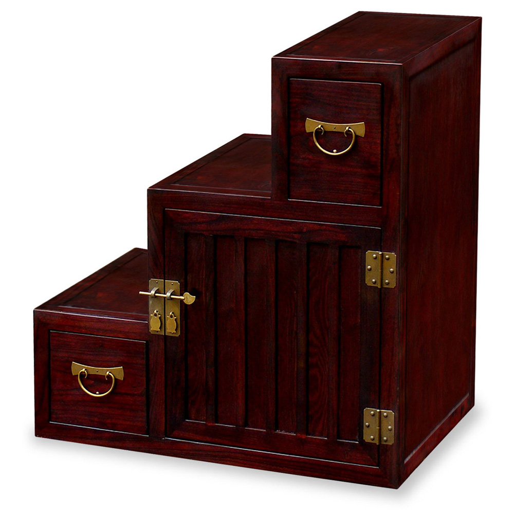 Elmwood Mini Step Tansu Chest