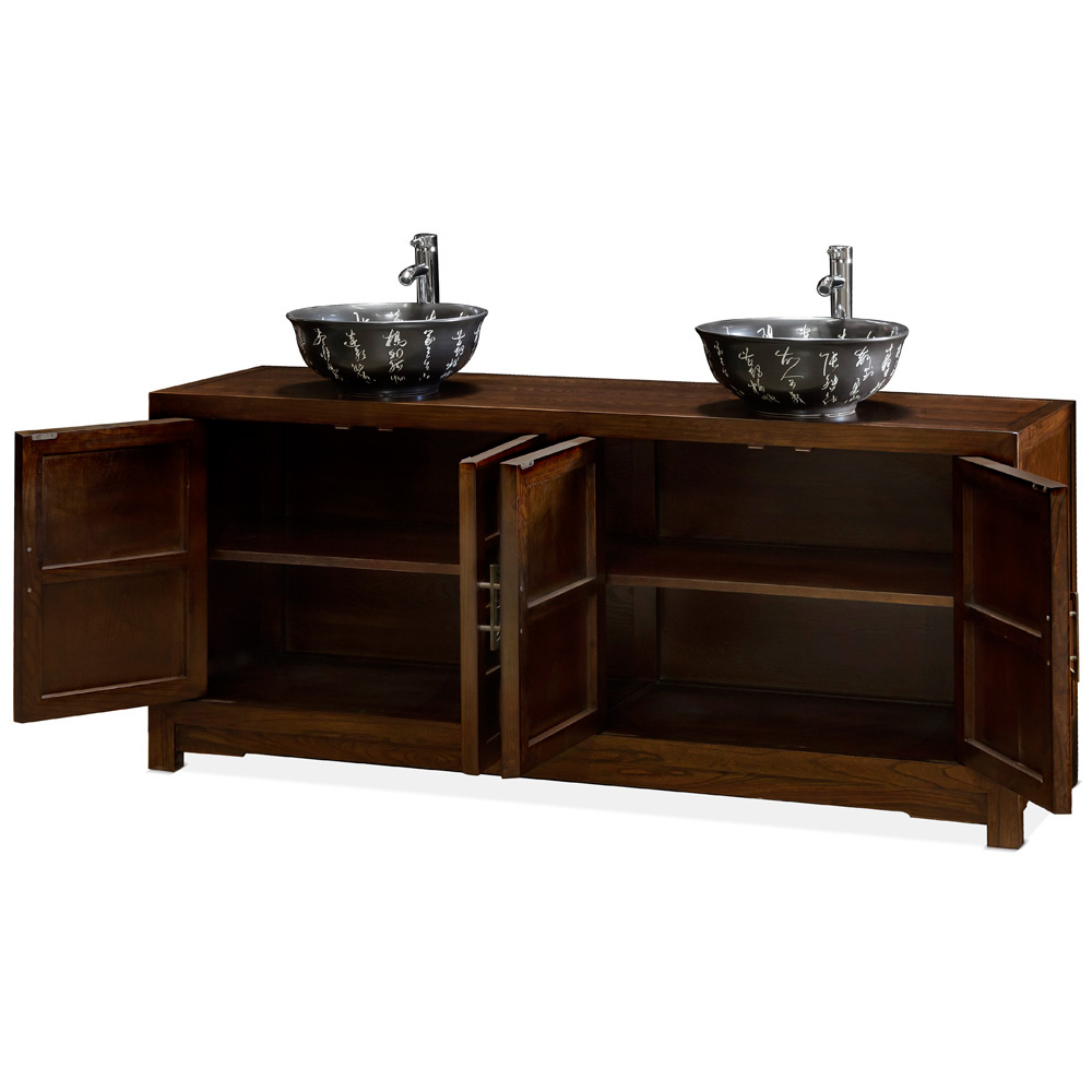 elmwood tansu style vanity cabinet On tansu bathroom vanity