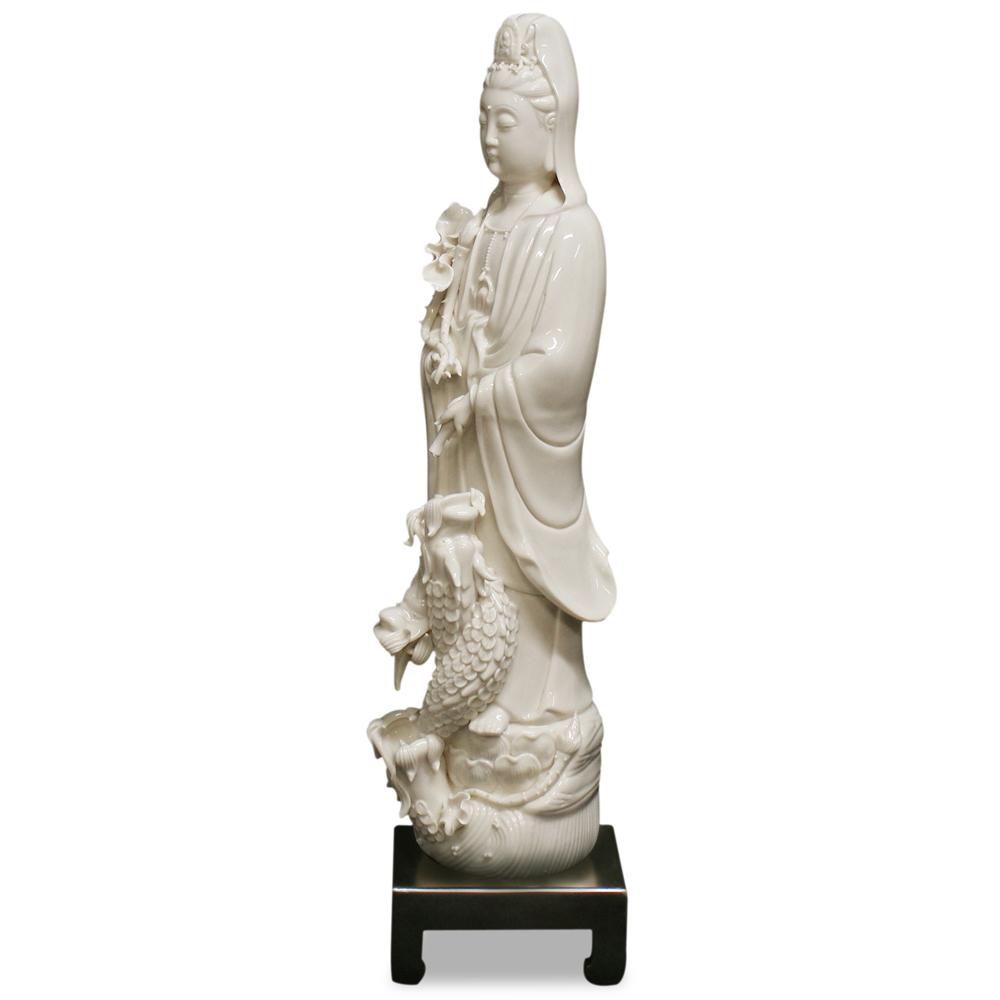 Porcelain Guanyin Drip Fountain Asian Statue