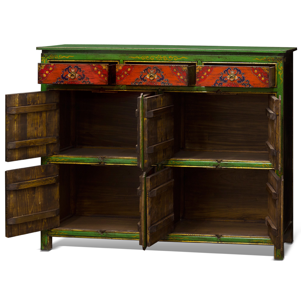 Hand Painted Tibetan Chest