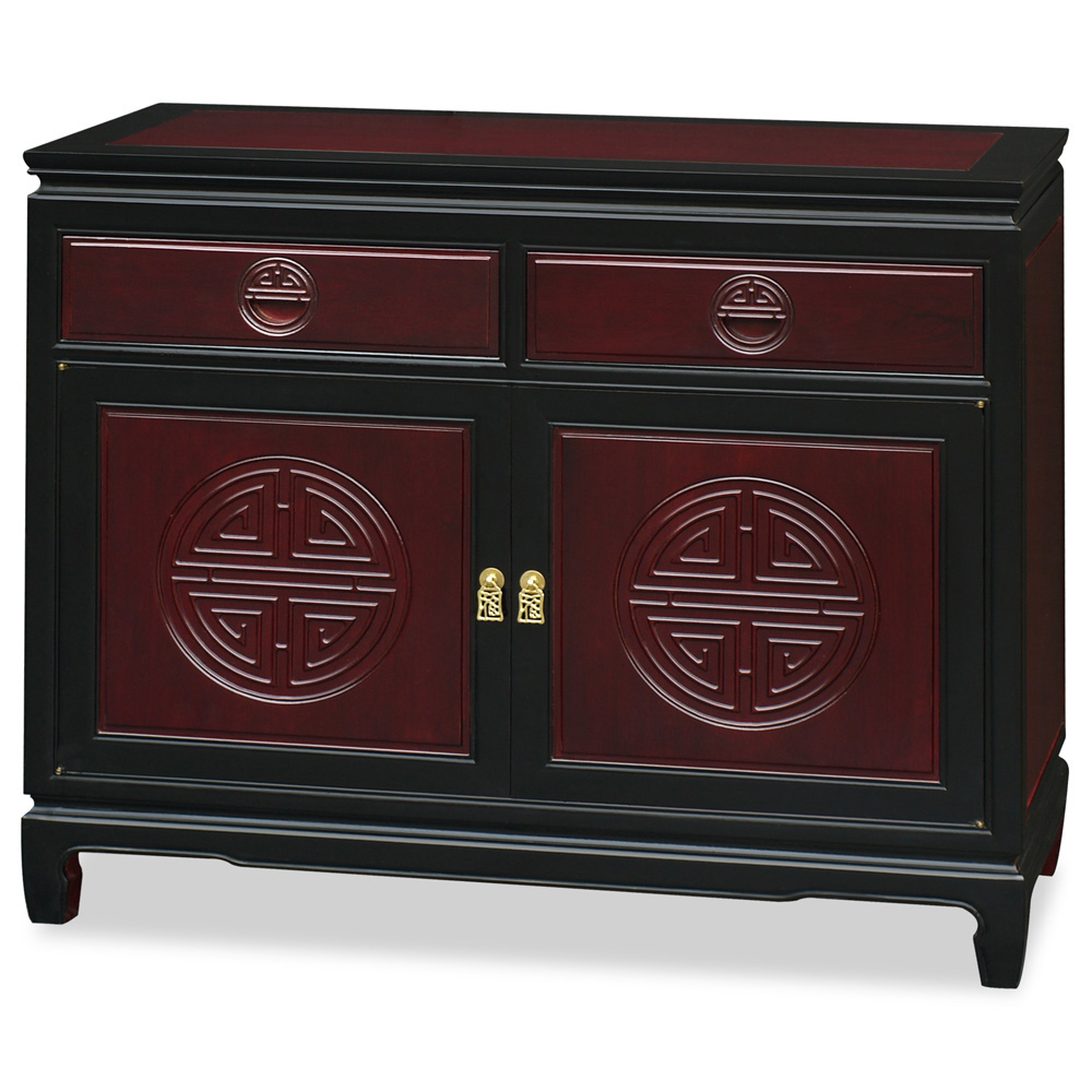 Black Trim Dark Cherry Rosewood Longevity Sideboard