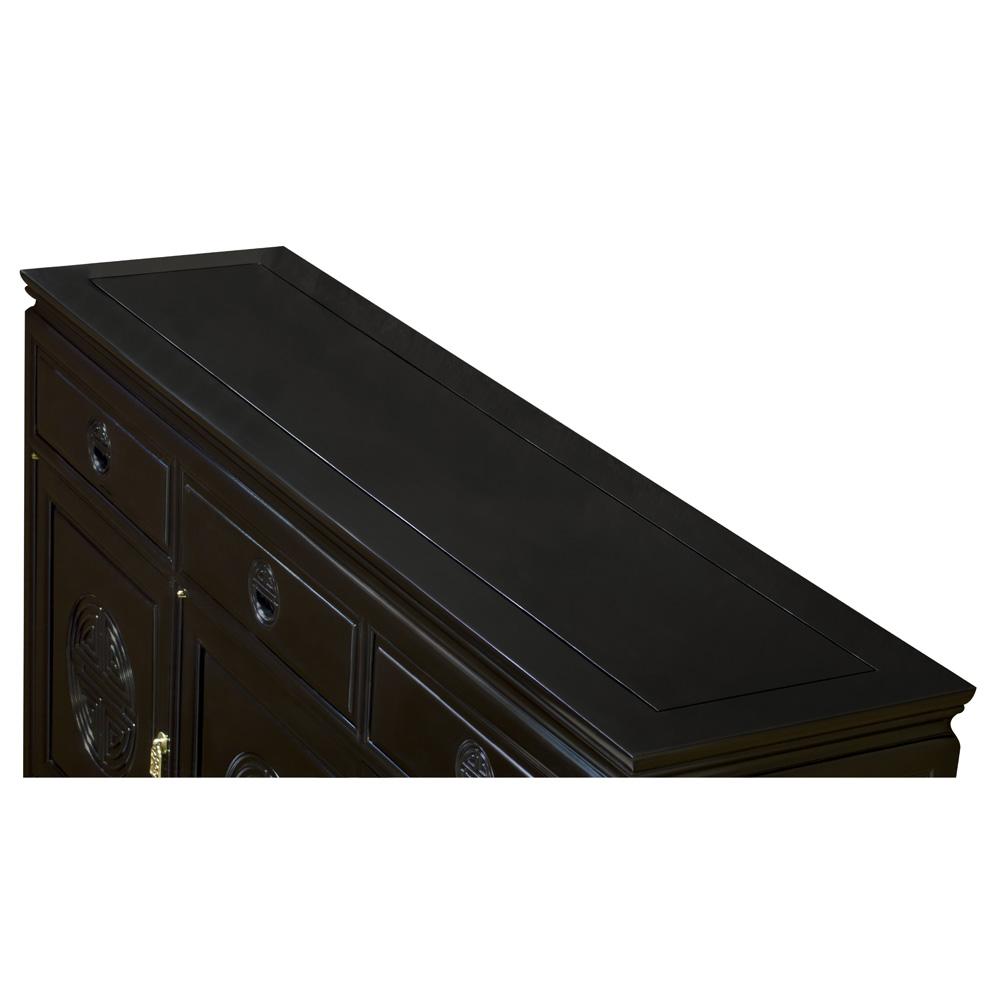 Black Rosewood Chinese Longevity Sideboard