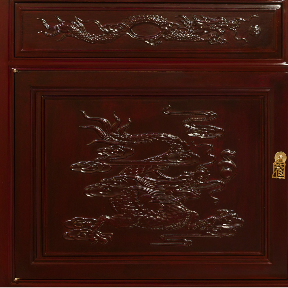 Rosewood Imperial Dragon Design Sideboard
