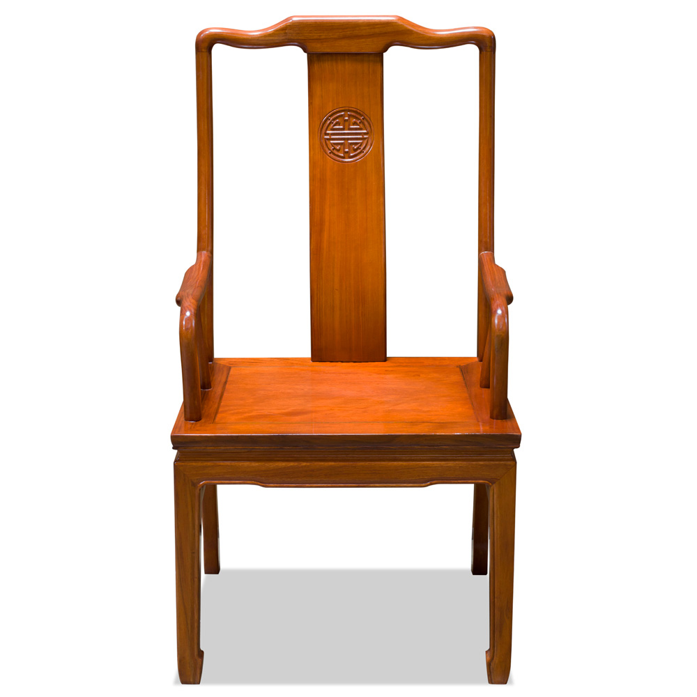 Natural Finish Rosewood Longevity Arm Chair