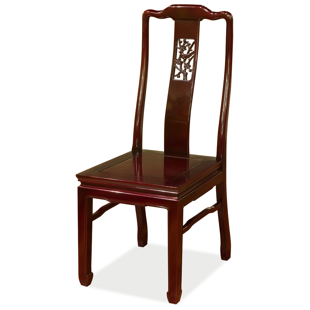 Rosewood Flower & Bird Motif Chair