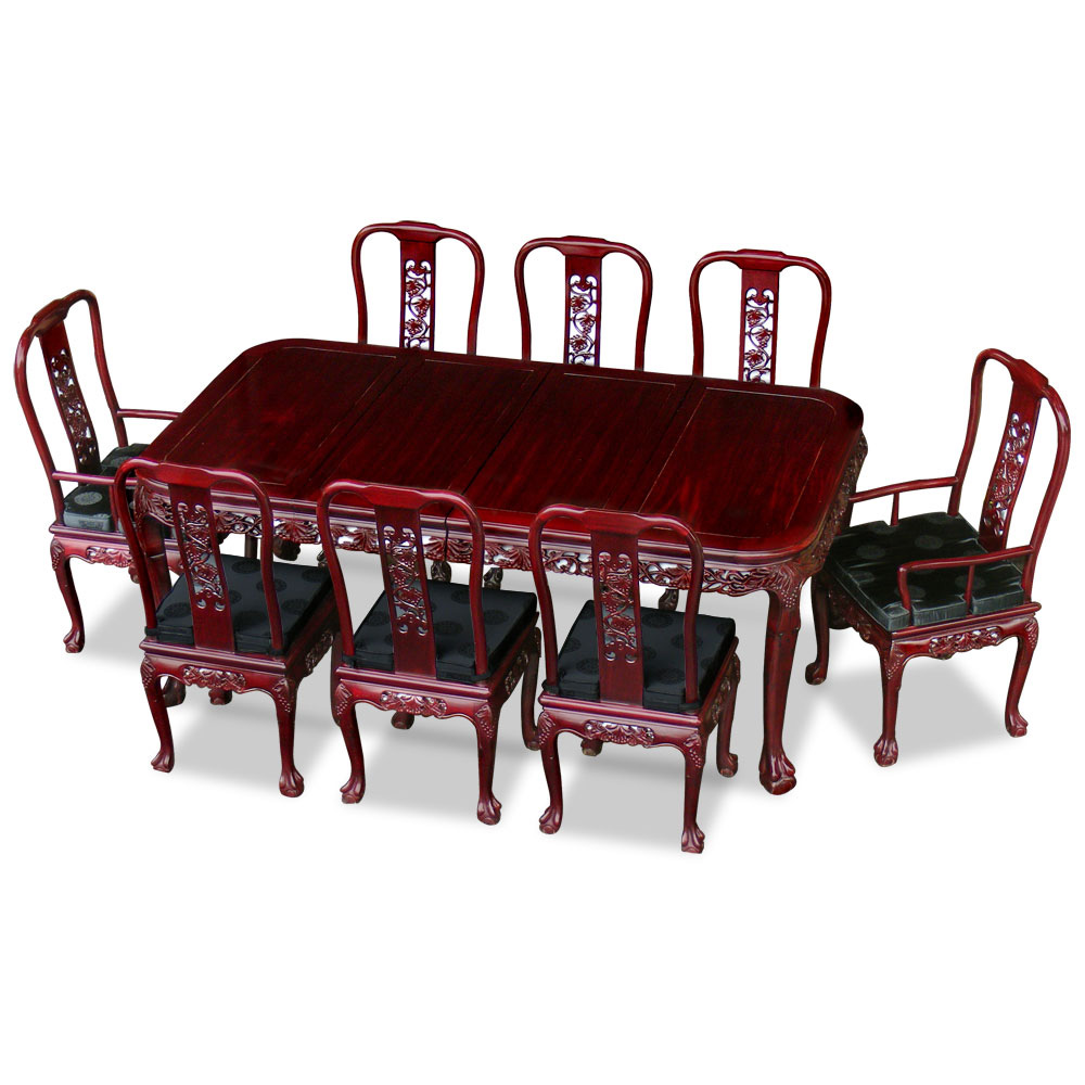80in Rosewood Queen Ann Grape Motif Dining Table with 8 Chairs : DDMD80C from www.chinafurnitureonline.com size 1000 x 1000 jpeg 130kB