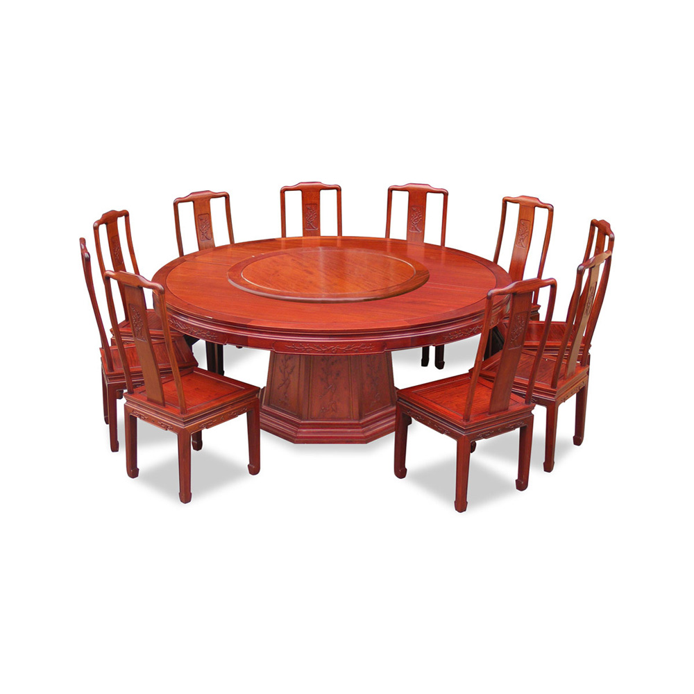 72in Rosewood Flower and Bird Design Round Dining Table  : DRLB72B from www.chinafurnitureonline.com size 1200 x 1200 jpeg 188kB