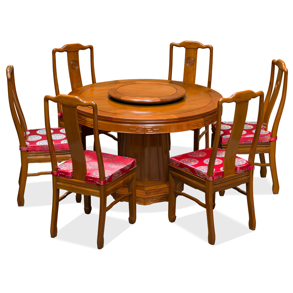 48in Rosewood Longevity Design Round Dining Table with 6  : DRSA48A from www.chinafurnitureonline.com size 1000 x 1000 jpeg 479kB
