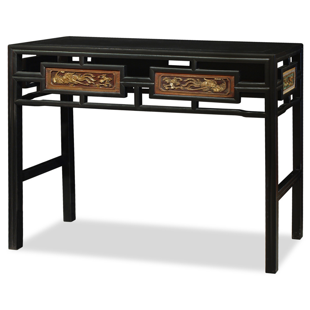 Elmwood Antique Panel Console Table