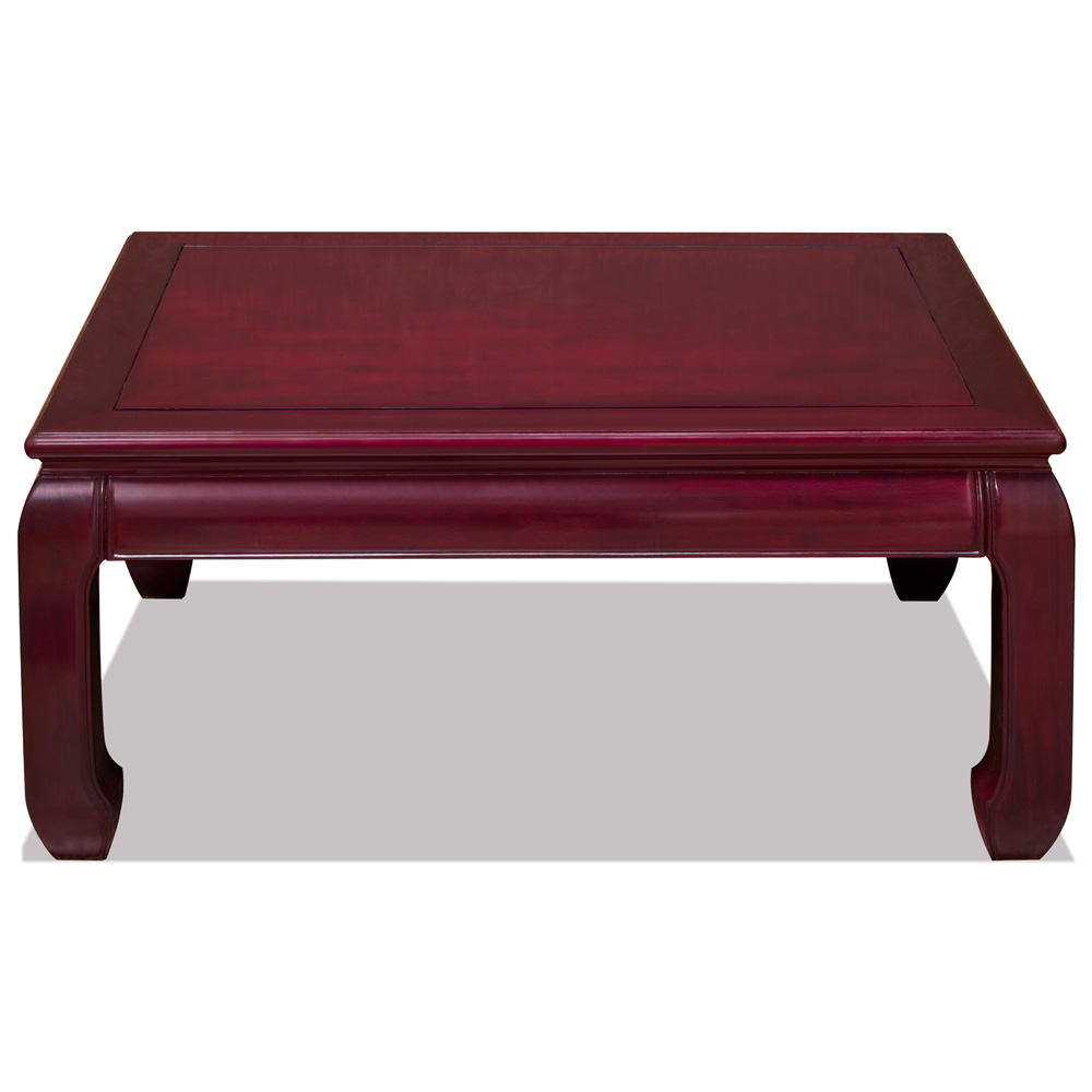 Dark Cherry Rosewood Ming Rectangular Coffee Table