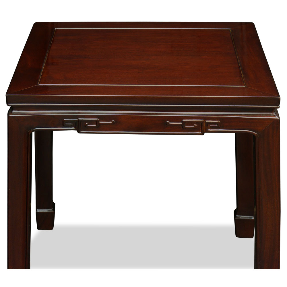 Rosewood Chinese Key Design Lamp Table