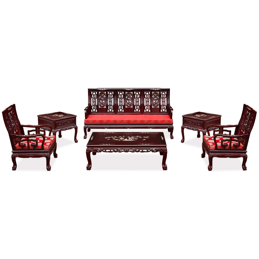 Rosewood Imperial Court Living Room Set (6pcs)