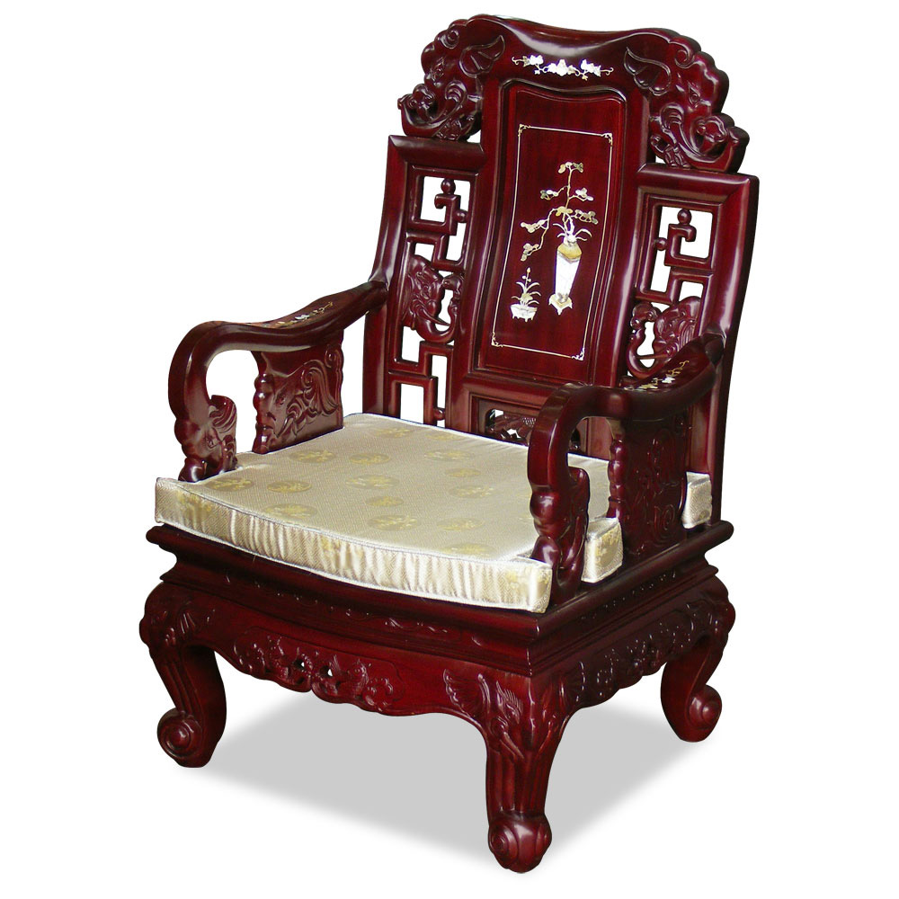 Rosewood Grand Imperial Elephant Living Room Set (6 pcs)