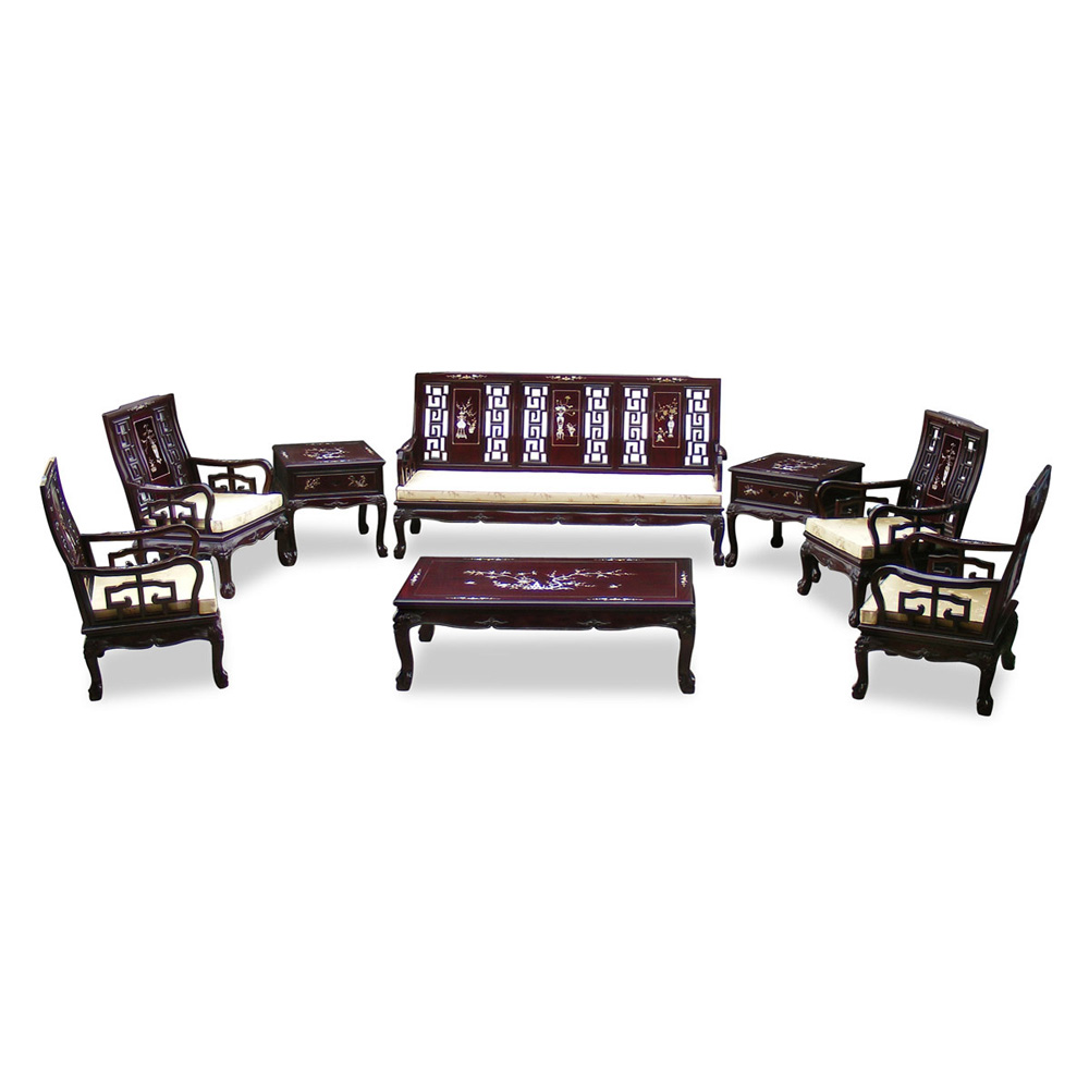 Rosewood Imperial Court Living Room Set (8pcs)